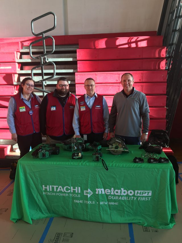 Gen T High school event pix with Lowes team and Metabo HPT 4-25-19