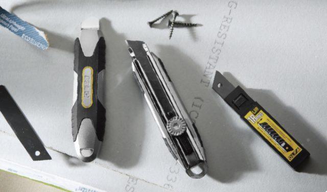 Die-cast aluminum utility knives