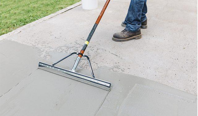 Sakrete resurfacing concrete