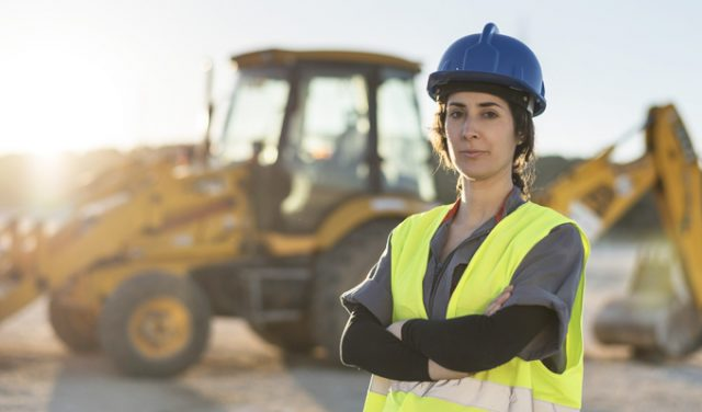 woman in construction