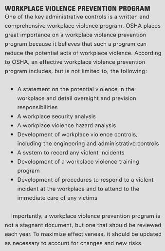 workplace violence program