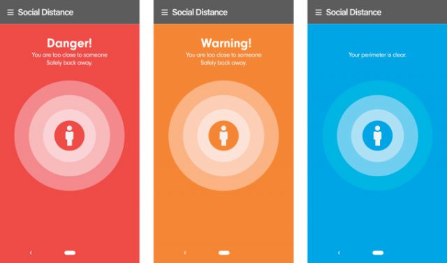 Social Safety App Screen